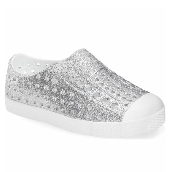 07c5078e3f32 Native Jefferson Bling Glitter Slip-On Sneaker. M 5af645e4f9e50135203b6cd2